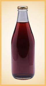Custom black cherry bottle label branding flavor screen printing