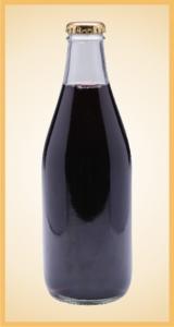 Custom grape bottle label branding flavor screen printing