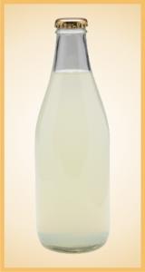 Custom lemonade bottle label branding flavor screen printing