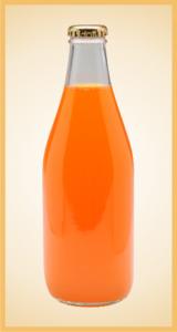Custom orange bottle label branding flavor screen printing