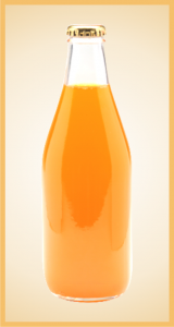 Custom orange cream bottle label branding flavor screen printing