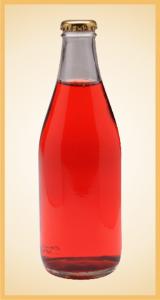 Custom raspberry lime bottle label branding flavor screen printing