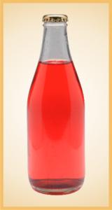 Custom strawberry bottle label branding flavor screen printing